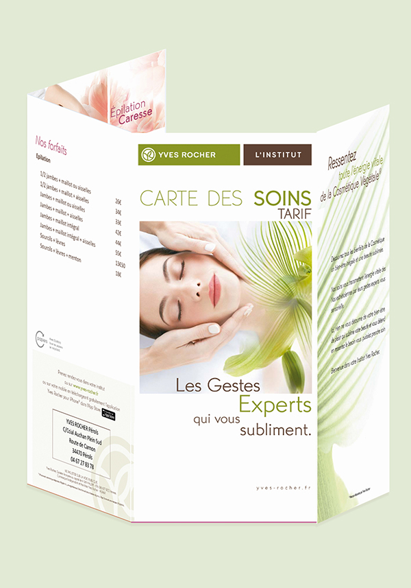 Flyers Yves Rocher Lattes - Perols - St Clement Riviere- conseil mkg