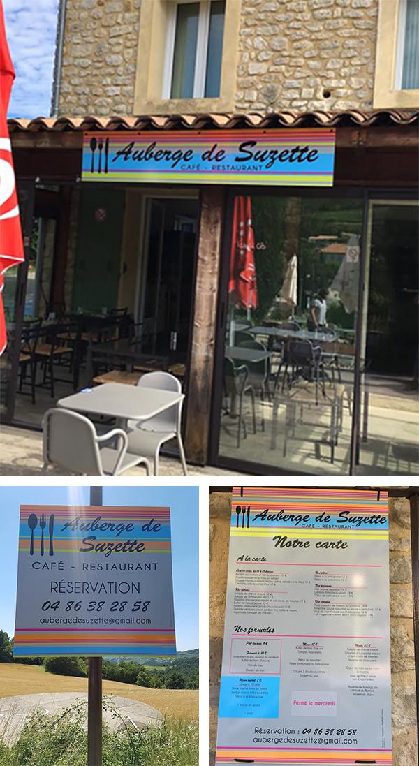 Signalétique-Restaurant-AubergedeSuzette-ConseilMkg