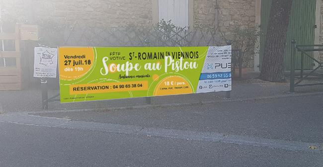 Banderole-Evénement St Romain en Viennois-Conseil Mkg