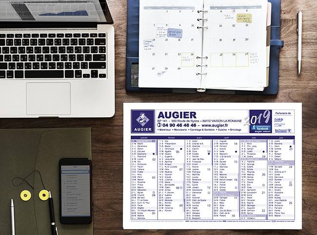 Réalisation-Calendrier-publicitaire-Augier-ConseilMkg
