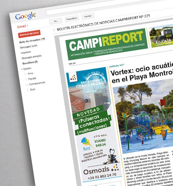 Encart publicitaire-E-news CampiReport-Espagne-Conseil Mkg