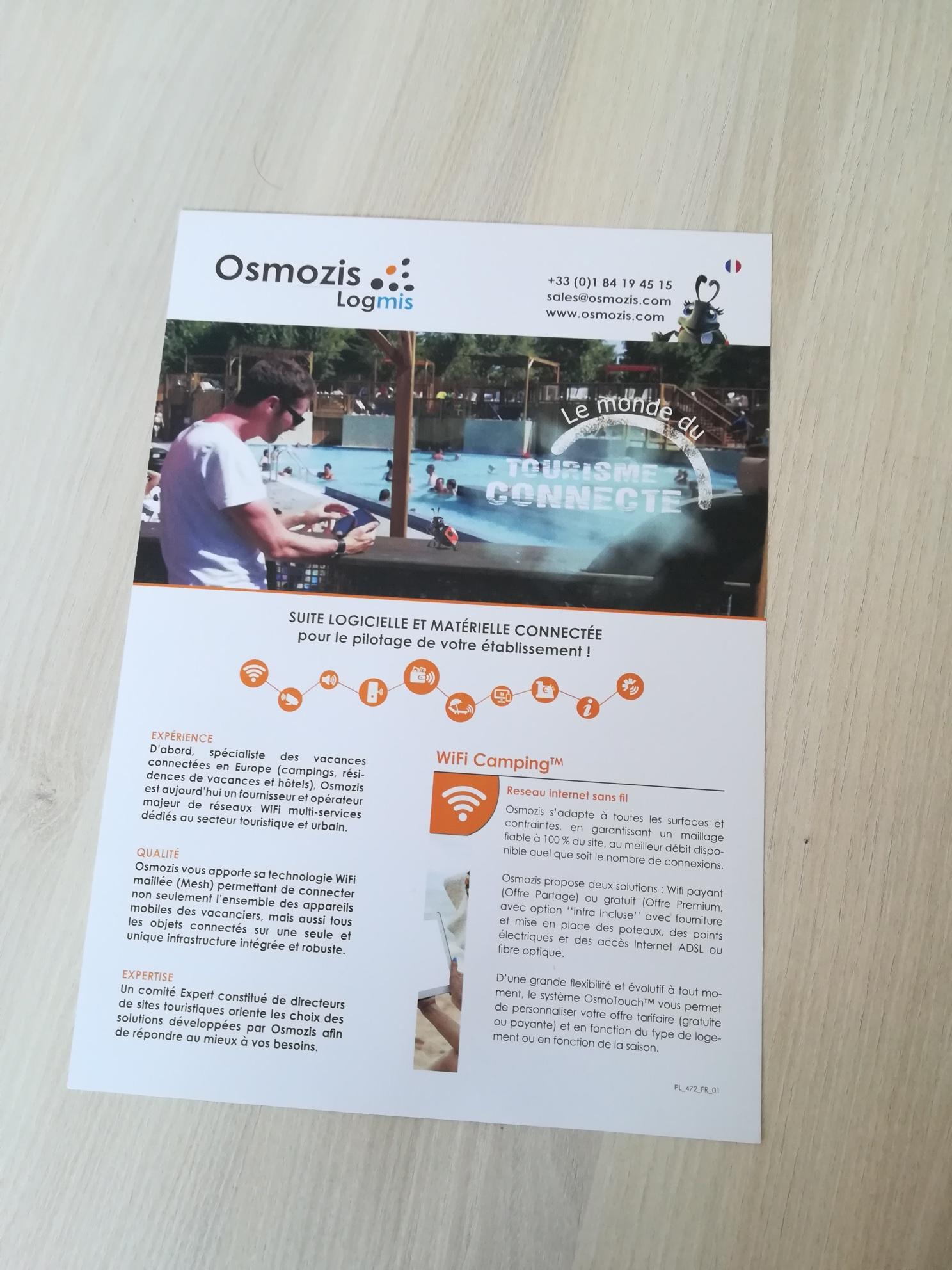 Plaquette commerciale A4 en plusieurs langues-Osmozis-Conseil Mk